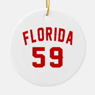 Florida 59 Birthday Designs Ceramic Ornament