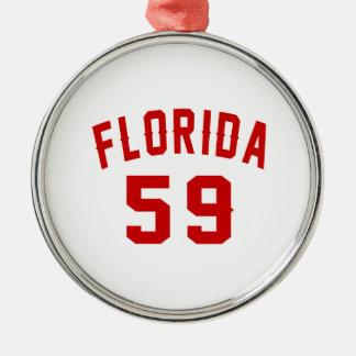 Florida 59 Birthday Designs Metal Ornament