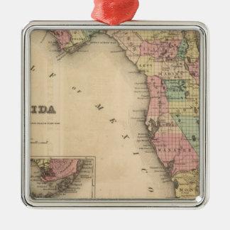 Florida 6 metal ornament