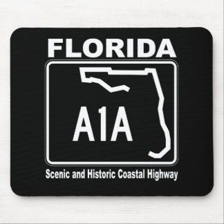Florida A1A Scenic and Historic Coastal Highway Mouse Pad