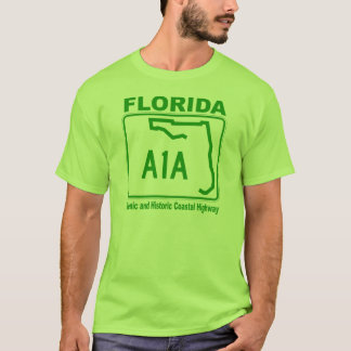Florida A1A Scenic and Historic Coastal Highway T-Shirt