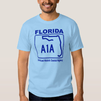 Florida A1A Scenic and Historic Coastal Highway Tee Shirts