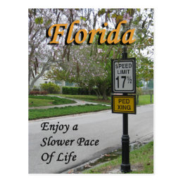 Florida: a Slower Pace Postcard