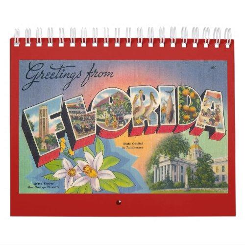 FLORIDA a Vintage Year Calendar