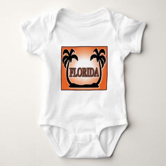 Florida Airbrushed Look Orange Sunset Palm Trees Baby Bodysuit