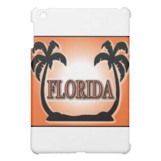 Florida Airbrushed Look Orange Sunset Palm Trees Cover For The iPad Mini