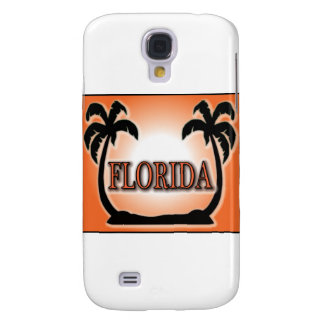 Florida Airbrushed Look Orange Sunset Palm Trees Samsung Galaxy S4 Cover