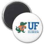Florida Albert With Hat - Blue 2 Inch Round Magnet