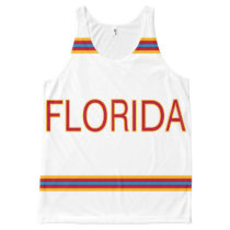 Florida All-Over Printed Unisex Tank