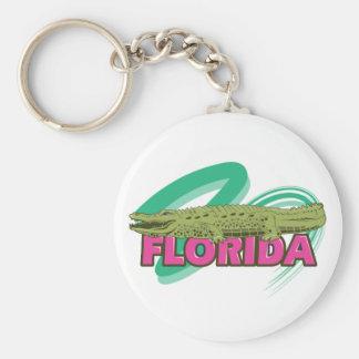 Florida Alligator Basic Round Button Keychain