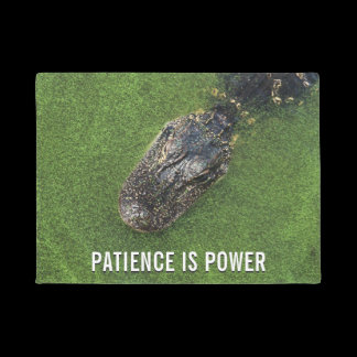Florida Alligator • Patience is Power • Nature Doormat