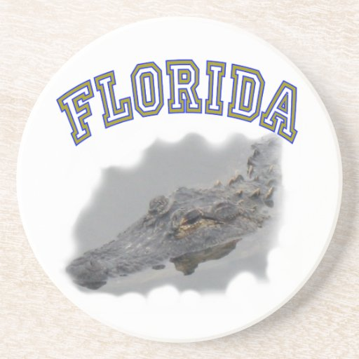Florida alligator souvenir coasters