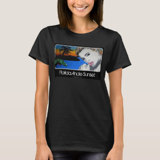 Florida Anole Sunset painting on a Ladies T-Shirt, T-Shirt