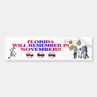 Florida - Anti ObamaCare, New Taxes & Spending Bumper Sticker