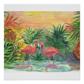 Florida Art - flamingos Posters