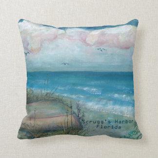 Florida Art - Scrug's Harbor Florida Throw Pillow