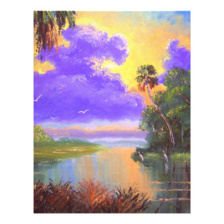 Florida Backwoods Colors Letterhead Template