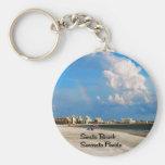 Florida Basic Round Button Keychain