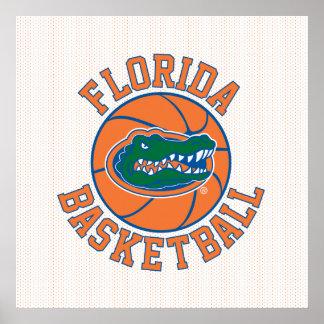 Florida Basketball   Gator Head Poster