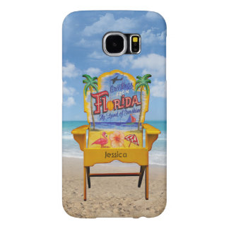 Florida Beach Chair with your Name Samsung Galaxy S6 Case