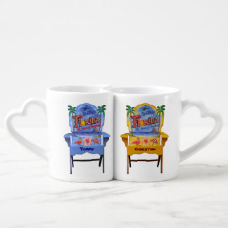 Florida Beach Chairs with your Names Lovers Mug Set