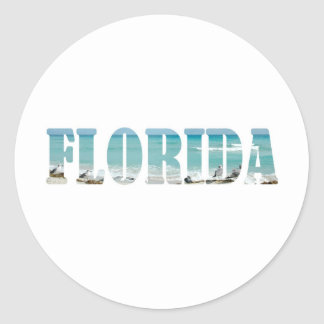 Florida Beach Classic Round Sticker