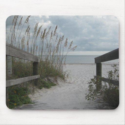 Florida Beach Path Mouse Pad