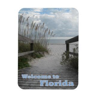 Florida Beach Path Rectangle Magnet