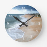 Florida Beach Round Clock