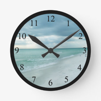 Florida Beach Round Clock