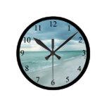 Florida Beach Round Clocks