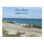 Florida Beach RSVP Postcard