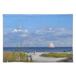 Florida Beach Scene Placemat Cloth Placemat