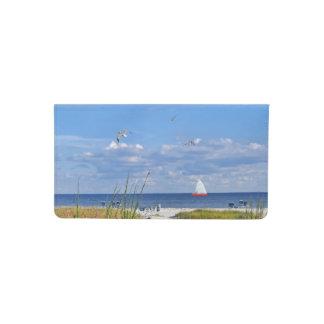 Florida Beach, Seaside, and Birds Checkbook Cover