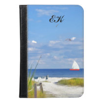 Florida Beach, Seaside, and Birds, Monogram iPad Mini Case