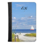 Florida Beach, Seaside, and Birds, Monogram Kindle Case