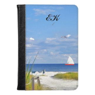 Florida Beach, Seaside, and Birds, Monogram Kindle Case