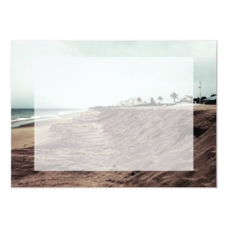 Florida beach south empty before storm vintage 5x7 paper invitation card