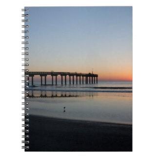 Florida beach sunrise spiral note books