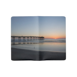 Florida beach sunrise large moleskine notebook cover with notebook