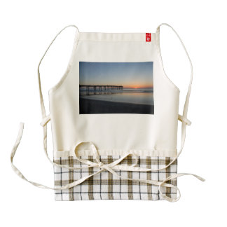 Florida beach sunrise zazzle HEART apron