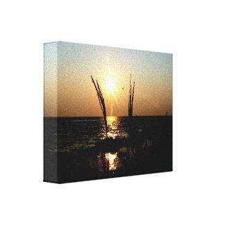 Florida Beach Sunset Stretched Canvas Print