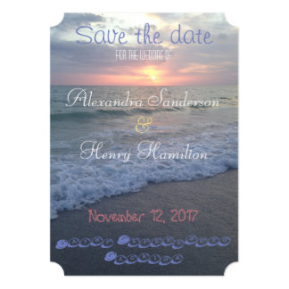 Florida Beach Sunset Save the Date Card