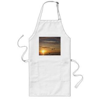 Florida Beach Sunset with Birds Long Apron