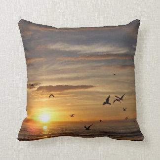 Florida Beach Sunset with Birds Pillows