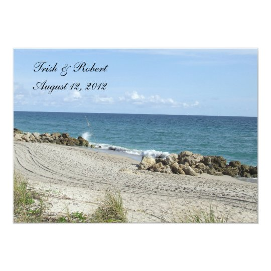 Florida Beach Wedding Card