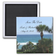 Florida Beach Wedding Save The Date Magnets