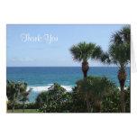 Florida Beach Wedding Thank You Greeting Cards