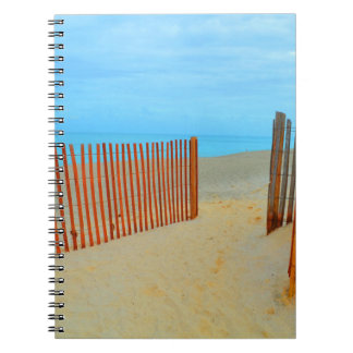 florida beach with fence colorful notebook