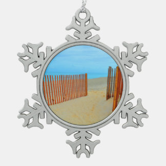 florida beach with fence colorful ornaments